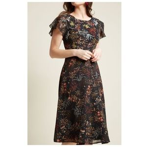 NEW ModCloth Embellished to Perfection Black Dress
